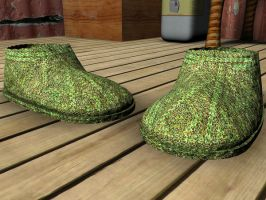 3D Plastic clog shoes by Barnman