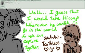Ask Toothless and Hiccup: Question 2 by Midnight7716