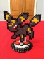 Pokemon: Umbreon- Hama Design by Dogtorwho