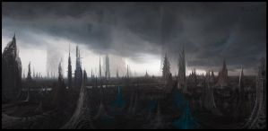 Alien Cityscape by samice
