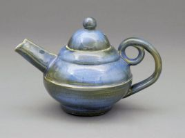 little blue tea pot by cl2007