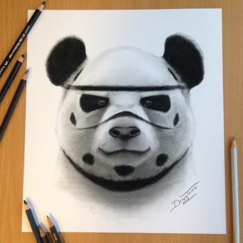 Stormtrooper Panda Drawing by AtomiccircuS