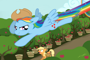 Applebucking From The Air by buckweiser