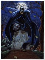 Batman grave commission by RayDillon