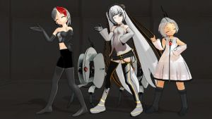 MMD Turret Party by CrimsonKingie