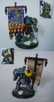 Space Wolves Standard Bearer by Arastoru