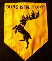 Baratheon house symbol embroidery by sleepyhamsteri