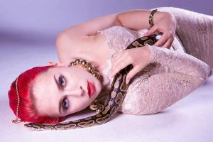 Girl with the snake II. by TheBizarreBirdcage