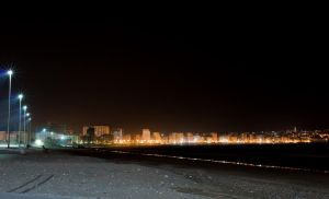 Tangier at night by agelisgeo