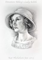 Downton Abbey's Lady Edith by Kat-Nicholson