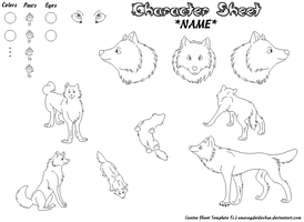 Canine Sheet Template UPDATE by smaragdeidechse