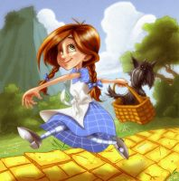 Dorothy and Toto by scissortail