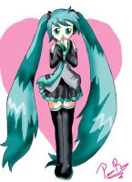 Miku heart by pridark