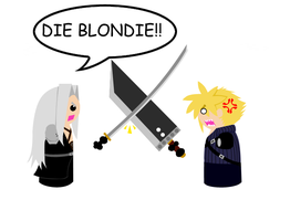 Cloud and Sephiroth fight by DemonDuo