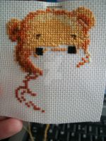 Teddy cross stitch by NommyPanda