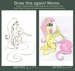 meme before and after Fluttershy by Ryouga1100