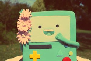 BMO's outdoor portrait by I-am-Ginger-Pops