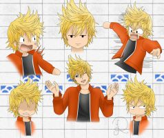 Roxas expressions by Nocta-Link
