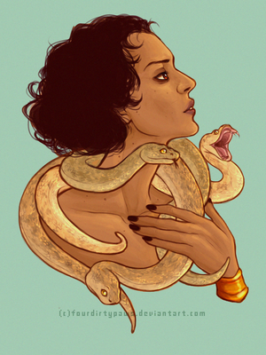 Mother of snakes by Sammaella