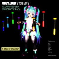 MMD Accessory Illuminated LED Microphones by Trackdancer
