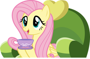 Tea Time with Fluttershy by Scrapplejack