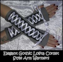 EGL Corset Arm Warmers by ZenAndCoffee