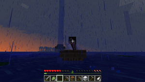 Minecraft playing ^^ Under the rain at the sea by Sonata-Yanni