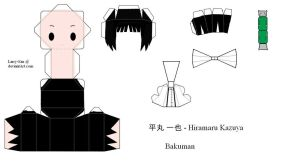Bakuman PaperCraft - Hiramaru by Larry-San
