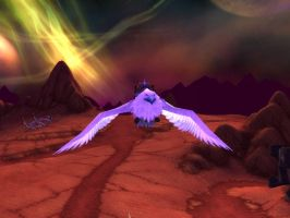 World of Warcraft - Flying in the skies of Outland by Gery850