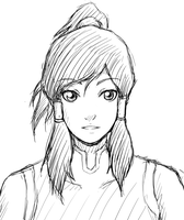 Just a Korra Sketch by Jit-chan