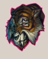 Angwy Tiger Painting by matt-radway