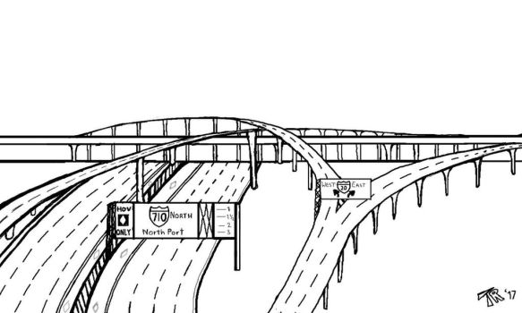 I-710 and I- 20 Interchange by RailTraxx