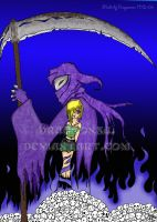 death and girl 2 colored by Dragoonsa
