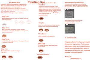 Painting Lips Tutorial by Bloodthorn123