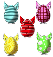 Egg Adopts!! OPEN [1 left] ^-^ by meloniigayle