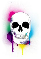 Scull in Colors by Thvg