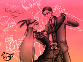 .: Valentine's Day :. Grell X William by CaptainPinsel