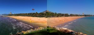 The Strand, Townsville - comparison with photo by papamook