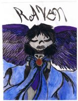 Raven with wings by RavenReborn