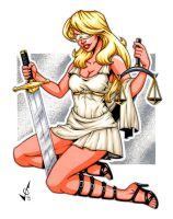 Lady Justice commission by gb2k
