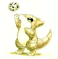 Sandshrew wants cookie by shiroiwolf