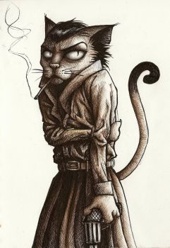 Kitteh noir by Lynafleder