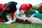 Harley Quinn and Poison Ivy cosplay by lovebirdcosplays