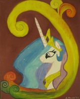 Princess Celestia Portrait by Kittychanann