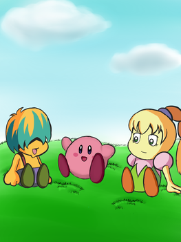 Kirby and Friends by PrincessCirne
