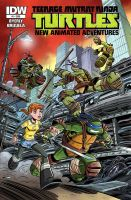 TMNT New Animated Adventures issue # 1 cover. by DarioBrizuelaArtwork