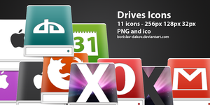 Drives Icons by borislav-dakov