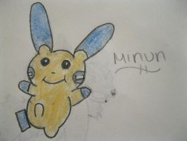 Minun by animeVampire-cat