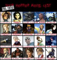 Final Fantasy Horror Movie Cast Meme by shizonek