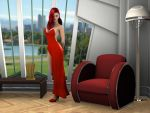 Red Rabbit At Home by Roys-Art